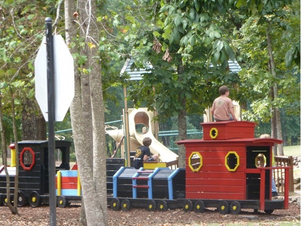 Pictured is one of Mt. Laurel's wonderful parks.  Kids love to play and pretend on the train.