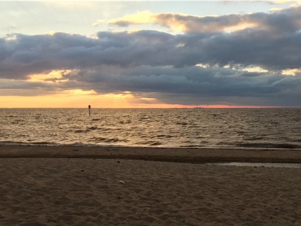 Sunset at Fairhope Beach, near the pier. Can't beat the views
