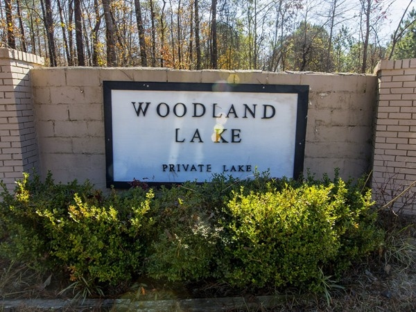Entrance to Woodland Lake Shores Subdivision