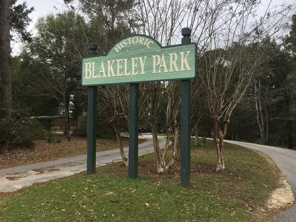 Entrance to Blakely Park in Spanish Fort