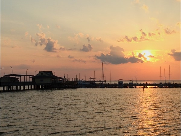 An amazing sunset at Fairhope Municipal Pier in Fairhope