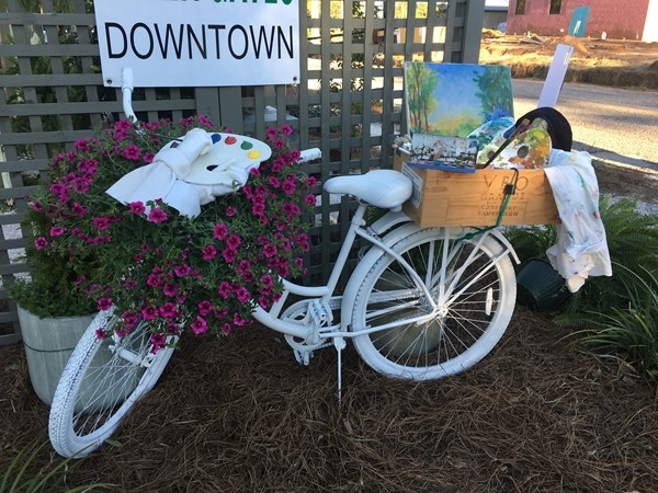 Too much cuteness welcoming you to downtown Fairhope