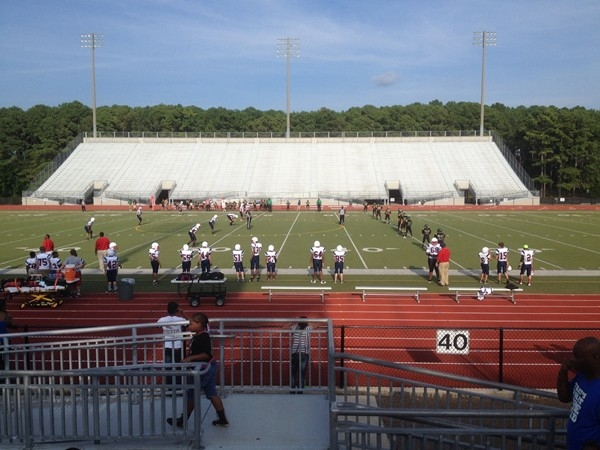 Middle school football games are played at Milton Frank stadium