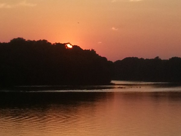 "A gorgeous sunset over the Tallapoosa River...one of the three in the ""River Region"""