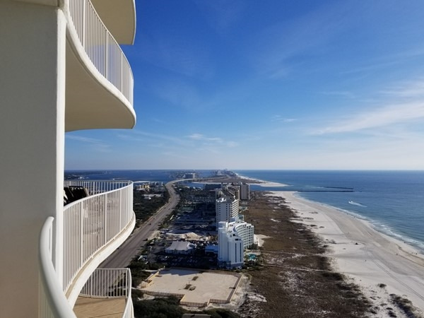 View from 3 BR, 3 BA Turquoise Place is fabulous...only thing better would be the corner 4 BR unit