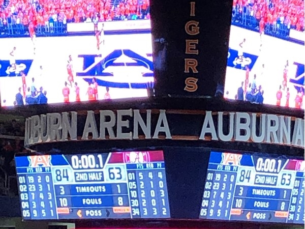 Auburn University Arena. Not an empty seat in the house!  Beat Bama