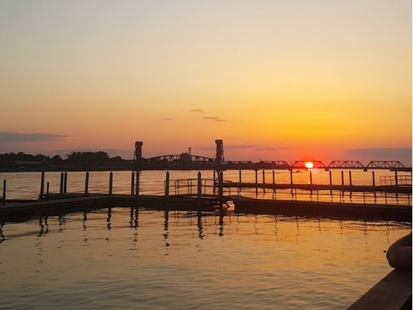 Sunset over Hard Dock in Decatur