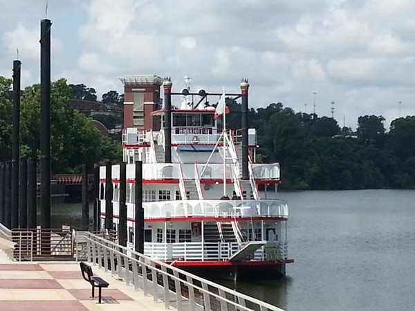 "The ""Harriott 2"" on the river.  Great for dinner cruises and parties!"