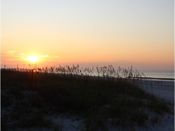 Beautiful early morning at Crystal Shores in Gulf Shores