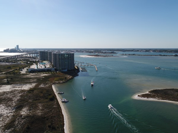 Beautiful day for boating around the Caribe Resort and Orange Beach Islands