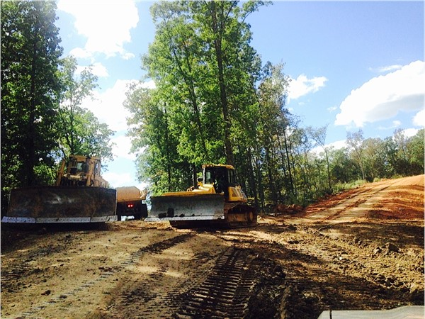 Construction for the new road leading up to the future homesites on Watson Grande Preserve