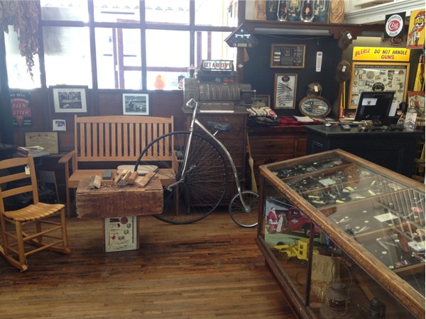 Inside U. G. Mercantile in downtown Athens.