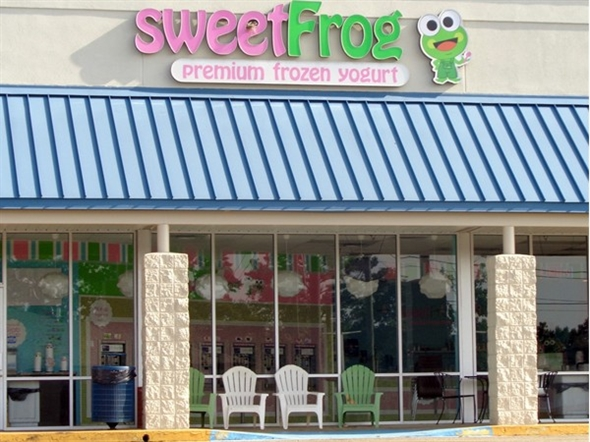 Stop by Sweet Frog and try their super yummy frozen yogurt