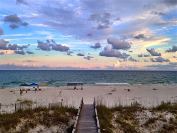 Summer sunset in Gulf Shores