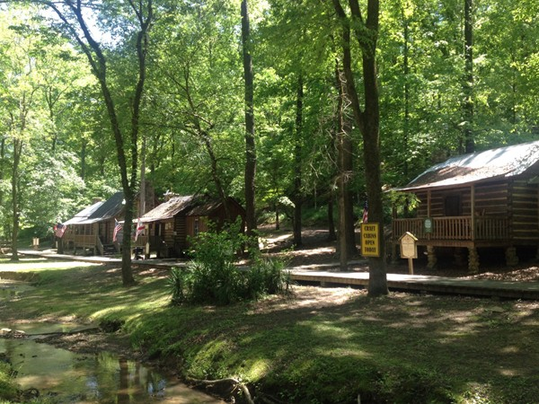 Historic cabins at Tannehill State Park