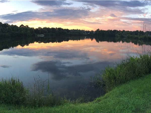 Beautiful sunset at Harper Creek Lake