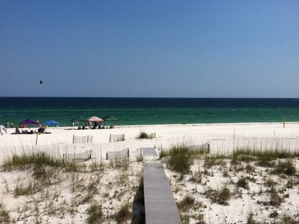 Our beautiful white sands and the gulf!