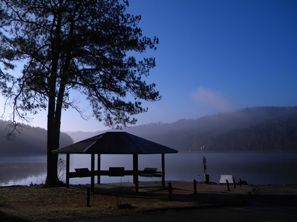 One of Lake Guntersville State Park's many public access boat ramps