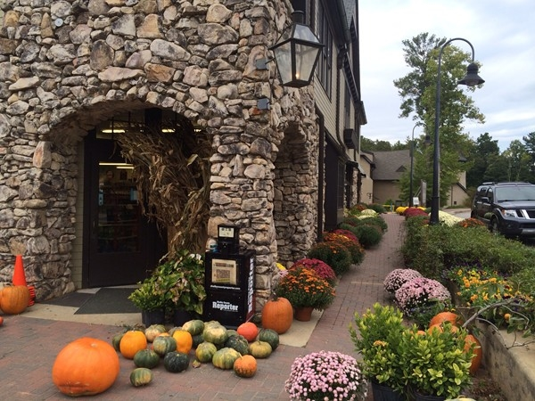 The General Store at the town of Mt. Laurel is ready for fall