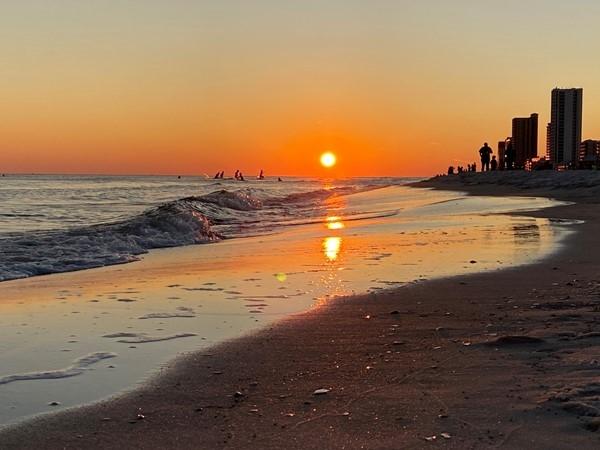 Gulf Shores public beach is a fantastic place to watch the sun go down