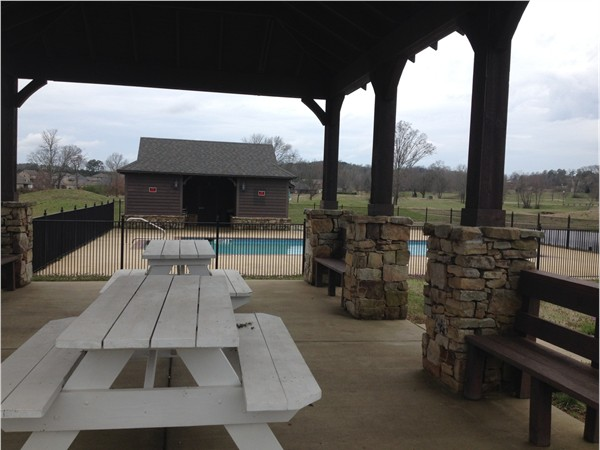 Community pool and picnic area at Tannehill Preserve
