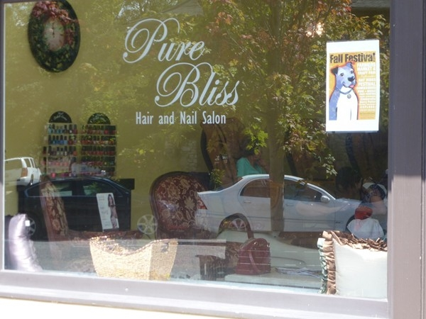 Get a mani/pedi or have your hair styled in a relaxed atmosphere at the Pure Bliss Salon