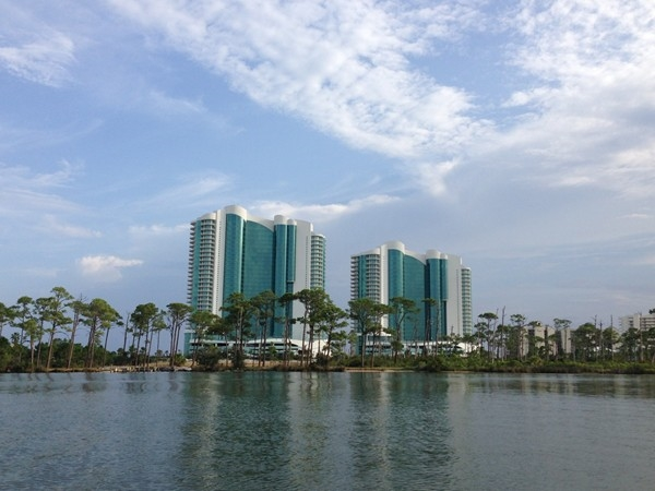 The beautiful Turquoise Towers from Cotton Bayou.