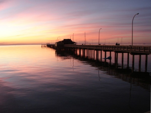 Enjoy the views from the Yardarm Restaurant located on the Fairhope Municipal Pier.