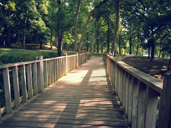 Shaded walkways at Gold Star Park