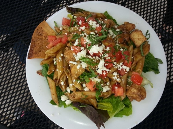 Yummy signature pasta at Taziki's Mediterranean Cafe