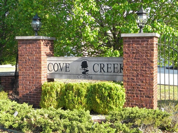 Entrance to Cove Creek Crossing on Hwy 67 east of I-65 in Priceville, Alabama
