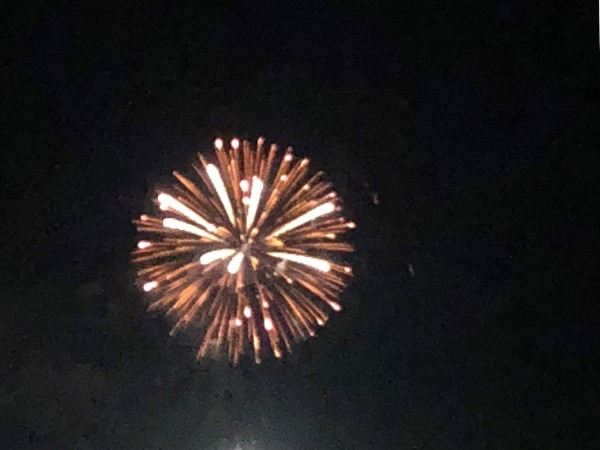 Fireworks over Lake Guntersville on July 4, 2018