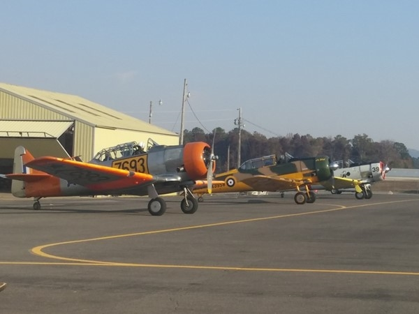 Vintage planes on display at the Guntersville Municipal Airport