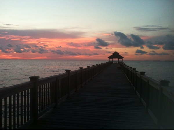 My husband & I enjoy riding our bikes or golf cart to the pier at Peninsula & watching the sunsets!
