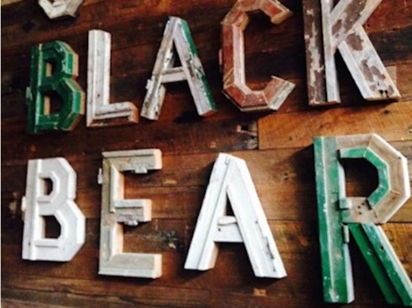 Sneak Peak.  Old Black Bear indoor sign for new brewery in Downtown Madison