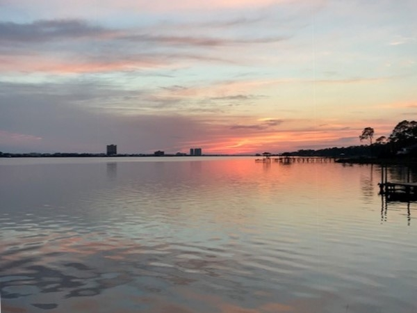 Sunset on Little Lagoon in Gulf Shores