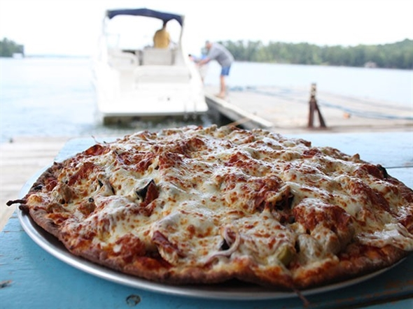Lake Day + pizza at Chuck's Marina = best day ever